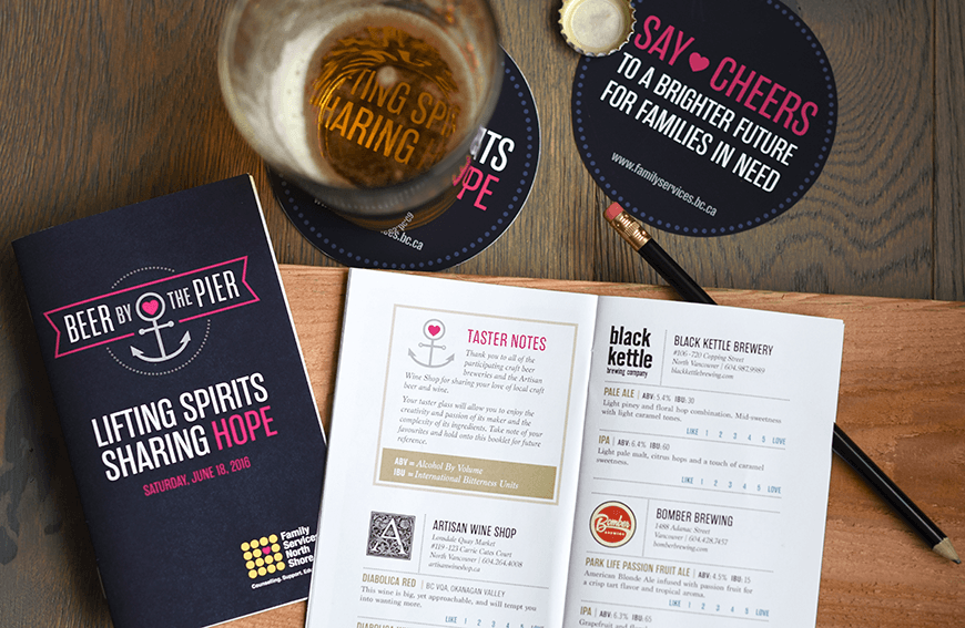 Beer by the Pier Event Branding