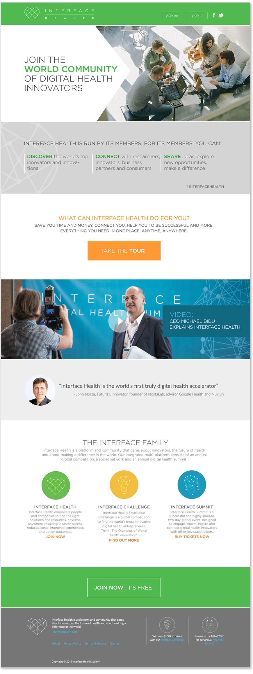 Interface Health Website