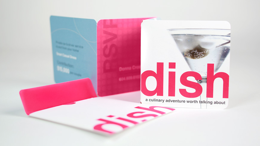 Dish Invitation & Envelope