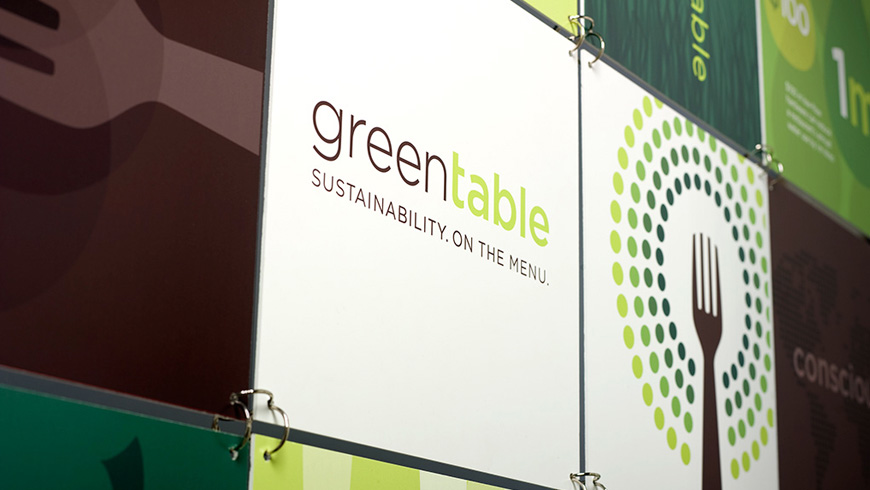 Green Table Network Event Signage